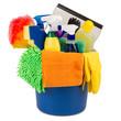 Leinwandbild Motiv cleaning bucket II