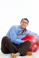 Man with Pilates Ball