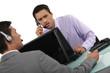 Men working in call center