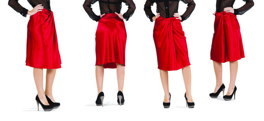 Lower than a belt - stylish women's clothing. Skirt.