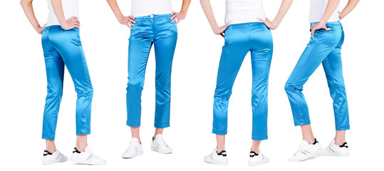 Lower than a belt - stylish women's clothing. Pants.