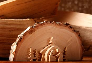 Presepe scolpito nel legno
