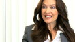 Portrait Successful Caucasian Businesswoman Close Up