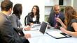 Multi Ethnic Business Team Working Wireless Technology