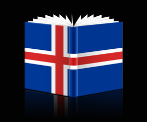 open book - Flag of Iceland
