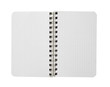 Blank textured page of a notebook, free copy space ,isolated on