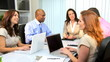 Team Meeting Multi Ethnic Advertising Agency Executives