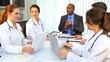 Multi Ethnic Team Medical Consultants