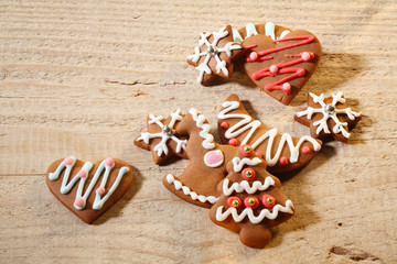 gingerbread cookies wooden table