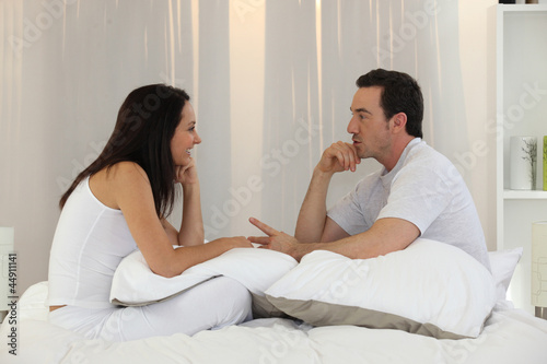 Married couple having an intimate discussion