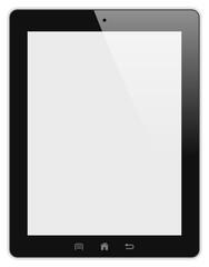 Tablet pc isolated detailed illustration