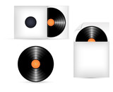 Vinyl Records in Paper Pack Vectors
