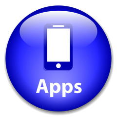 """APPS"" Web Button (download application smartphone mobile phone)"