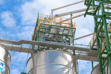The polyethylene silo storage tank