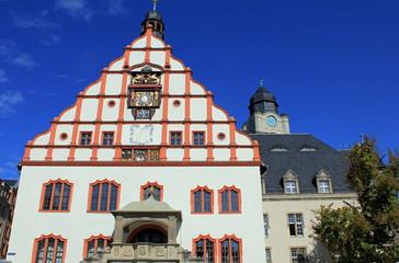Plauen: Altes Rathaus mit Renaissance-Giebel (Sachsen)