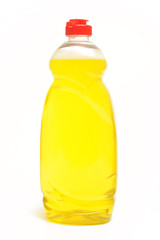 Washing up liquid in a bottle