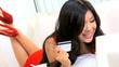 Pretty Asian Girl Online Shopping Home Laptop