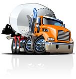 Fototapety Cartoon Mixer Truck one click repaint option