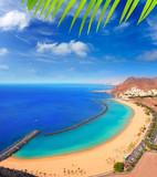 Fototapety Beach Las Teresitas in Santa cruz de Tenerife north
