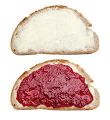 Butterbrot und Marmeladebrot