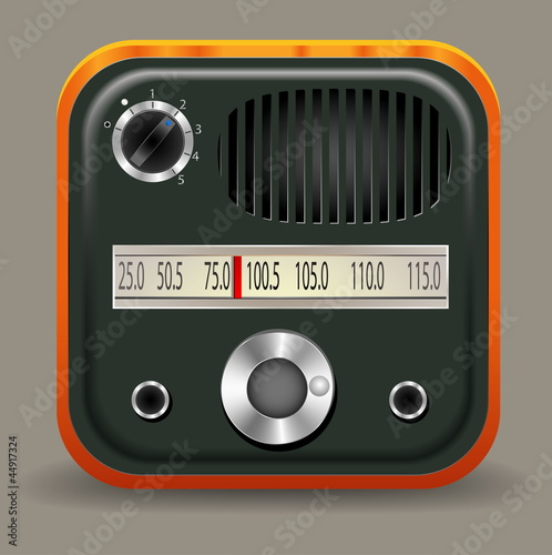Icon retro radio
