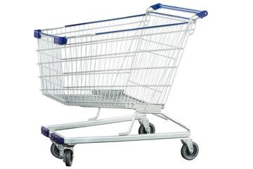 Metal shipping trolley