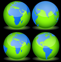 Earth Icons Vectors