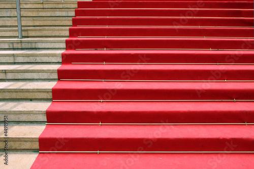 Plexiglas Trappen Red carpet, Cannes, France