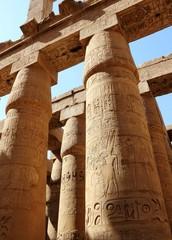 Die große Säulenhalle (Hypostyl) im Karnak-Tempel, Luxor, Ägypte