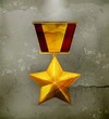Gold star, old-style