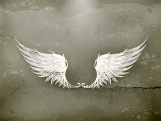 Wings white, old-style
