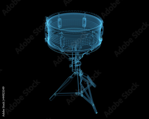 Drum (3D xray blue transparent)
