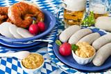 Fototapety Oktoberfest - Weißwurst und Bier