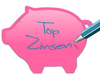 Sparschwein top Zinsen
