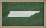 outline map of tennessee on blackboard