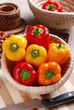 peperoni nella cesta