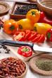 peperoni affettati con altri ingredienti