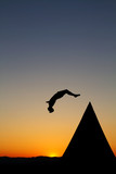 freerunning in sunset