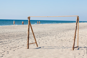 football gate on the beach