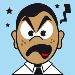 visage expression figure portrait colère furax