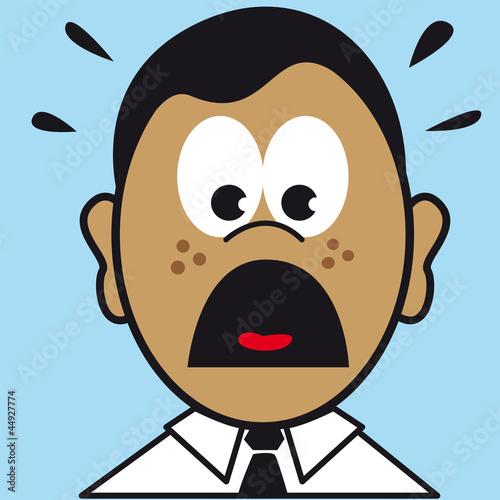 visage expression figure portrait peur frayeur