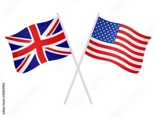 United States of America  and United Kingdom flags