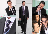 A collage of business professionals
