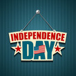 Independence day American signs, illustration
