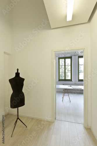 interior, office, studio room with dummy