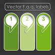 Vector faq labels