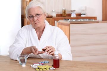 Elderly taking drugs