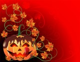 Chocolate Halloween Pumpkin Card-Zucca di Cioccolato-Vector
