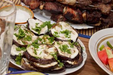 шашлык из свинины с кабачками