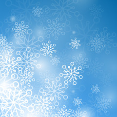 Vector illustration of a winter background